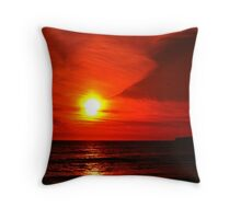Half Moon Bay Sunset in Red. California 2008 Throw Pillow