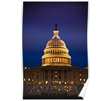 The United States Capitol Building at Twilight Poster