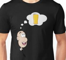 Thinking of Beer Unisex T-Shirt