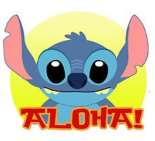 Aloha! Stitch by Daniel Bonney