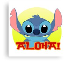Aloha! Stitch Canvas Print