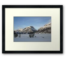 an incredible Norway landscape Framed Print