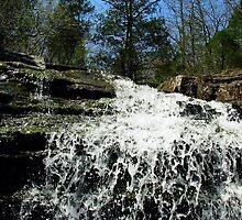Waterfall flowing into Little Lee Creek* by DeepwoodsImages