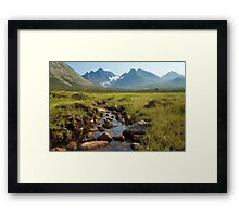 an exciting Norway landscape Framed Print