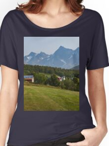 a large Norway landscape Women's Relaxed Fit T-Shirt