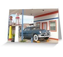 1950 Ford Deluxe 'Tudor'. Greeting Card