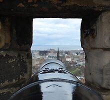 Through a Cannon at Edinburgh Castle by LeanneDixon