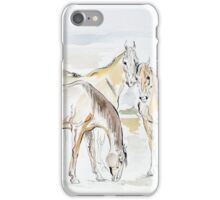"""Mares in the field"" iPhone Case/Skin"