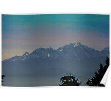 Mountainous Glow Poster
