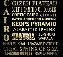 Cairo Egypt Famous Landmarks by Patricia Lintner