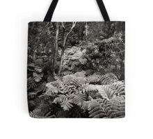 Fern Forest (B&W) Tote Bag