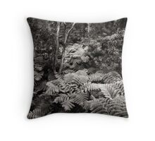 Fern Forest (B&W) Throw Pillow