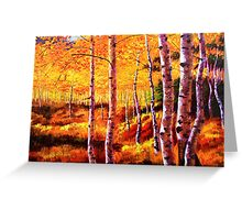 View in the Aspens Greeting Card