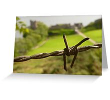 Barbed Wire At Loch Ness Greeting Card