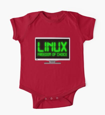 Linux - Freedom Of Choice One Piece - Short Sleeve