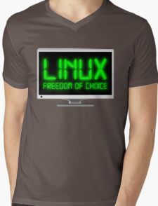 Linux - Freedom Of Choice Mens V-Neck T-Shirt