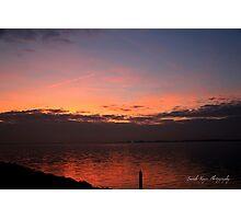 Sunset on the Island of Marken, Netherlands Photographic Print
