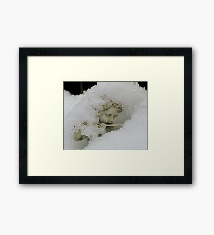 Still playing the flute Framed Print