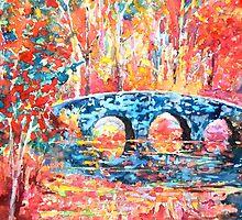 Clinker Bridge, Impressionist Painting by HannahTiffinArt