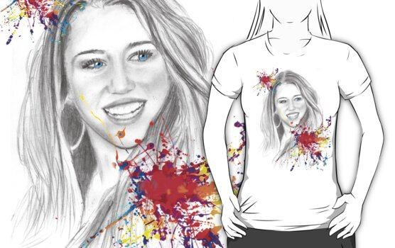 miley cyrus drawing by ralphyboy