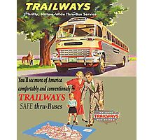 Old Trailways Bus Lines Photographic Print