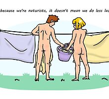 Do naturists do less laundry? by Nude-is-Life
