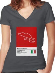 Mugello Circuit - v2 Women's Fitted V-Neck T-Shirt