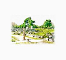 Paestum: archaeological site with tree and column Unisex T-Shirt