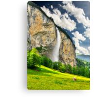 Swiss Waterfall Canvas Print
