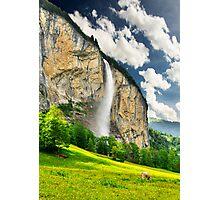 Swiss Waterfall Photographic Print