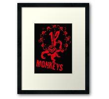 twelve monkeys 12 Framed Print
