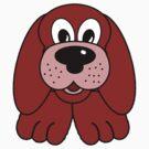 Children's Red Puppy Dog by Chere Lei