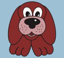 Children's Red Puppy Dog Kids Clothes