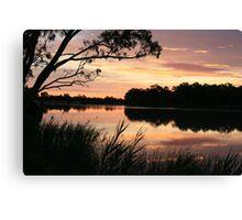 Paringa sunset,Murray River,South Australia. Canvas Print