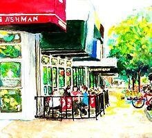 Diamond Jims, City Impressionist Painting by HannahTiffinArt