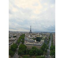 View of the Eiffel Tower from the Arc De Triomphe  Photographic Print
