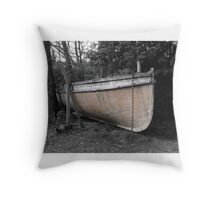 boat in the bush Throw Pillow