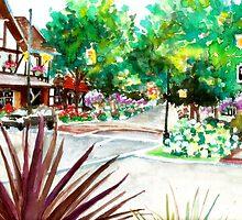 Old City, Impressionist Painting, Frankenmuth MI by HannahTiffinArt