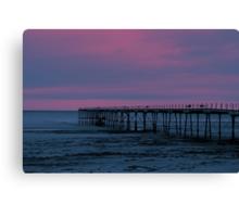 The Pier - Saltburn (Split Toned) Canvas Print