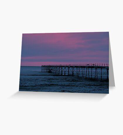The Pier - Saltburn (Split Toned) Greeting Card