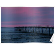 The Pier - Saltburn (Split Toned) Poster