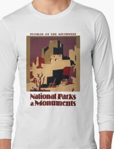 Pueblos of the American Southwest Long Sleeve T-Shirt