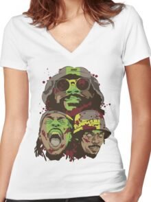 The Glorious Dead Present Zombies by Flatbush Women's Fitted V-Neck T-Shirt
