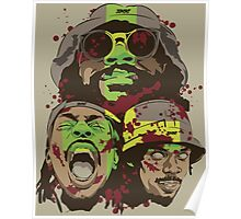 The Glorious Dead Present Zombies by Flatbush Poster
