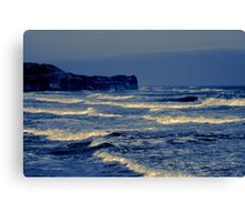 Waves - Sandsend  (Split Toned) Canvas Print