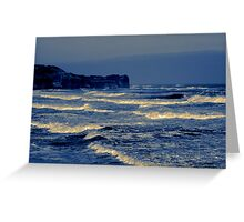 Waves - Sandsend  (Split Toned) Greeting Card