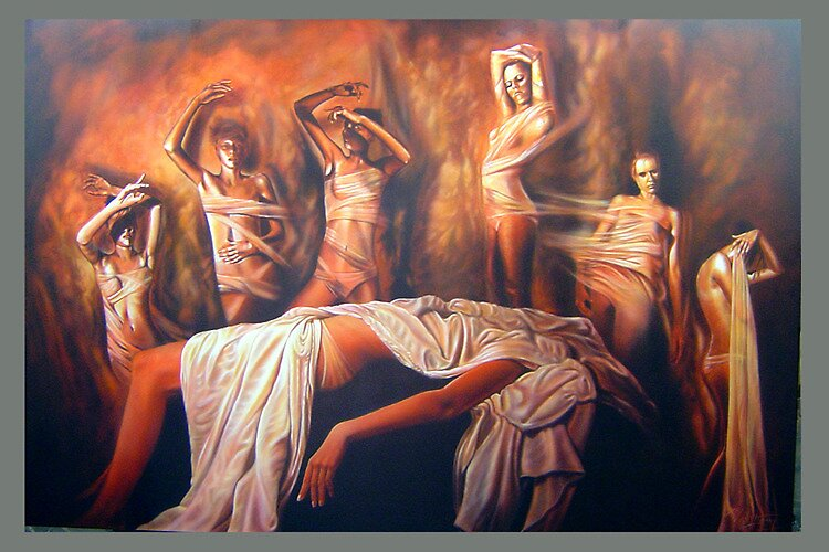 Warren Haney,  'Seventh Sister' 122 cm x 184 cm    Acrylic on Stretched Canvas by Warren Haney