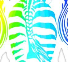 Rainbow Zebras Sticker