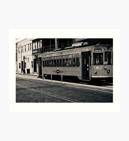 Trolley Car Duotone Image 5 Duotone Experience Art Print