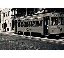 Trolley Car Duotone Image 5 Duotone Experience Photographic Print